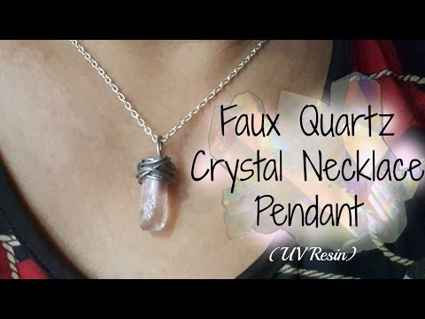 DIY Handmade Faux Crystal Necklace (UV Resin) *Thank You For 100 Subscribers!*