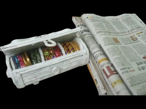 how-to-make-bangle-box-from-news-paper-|-best-out-of-waste-|-diy-bangle-box-|-news-paper-craft