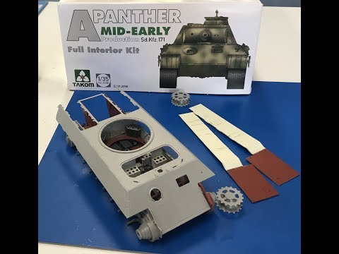 Takom 1//35 2098 WWII German Panther A Sd.Kfz.171 Mid//Early Tank w//Interior