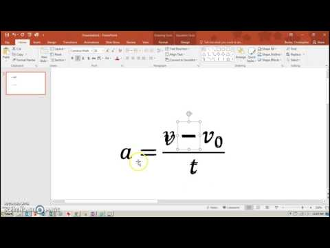 Animating Equations In PowerPoint