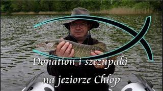 Na ryby z Markiem # 185 Donation i szczupaki na jeziorze Chłop