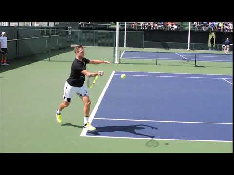 Jack Sock FH super slo mo