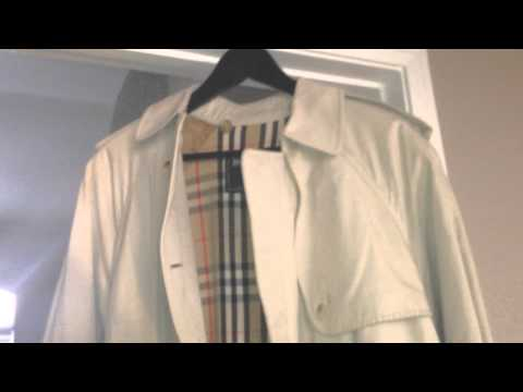 How To Find The Size Of Your Burberry Burrberrys Trench Rain Coat And Look For Authentic Markings