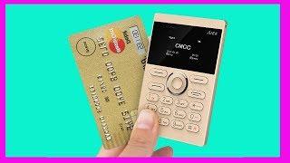 Распаковка дешевого телефона из Китая с aliexpress  card phone