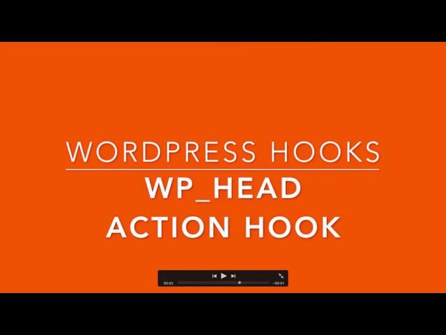 WordPress Hooks wp head Part-28 Example