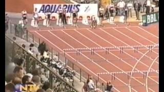 110m hurdles ,IAAF Golden League in Brussels 2000