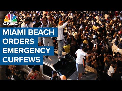 Miami Beach cracks down on unruly, maskless spring break crowds with emergency curfew