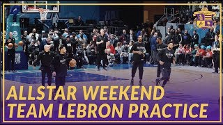 2019 NBA All-Star: Team LeBron Doing Some Drills At All-Star Practice