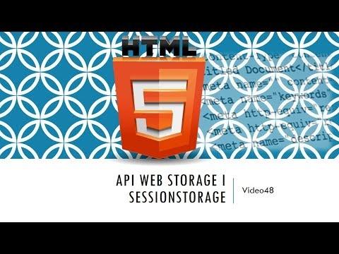 Curso HTML 5  API Web Storage. Almacenando información. Vídeo 48