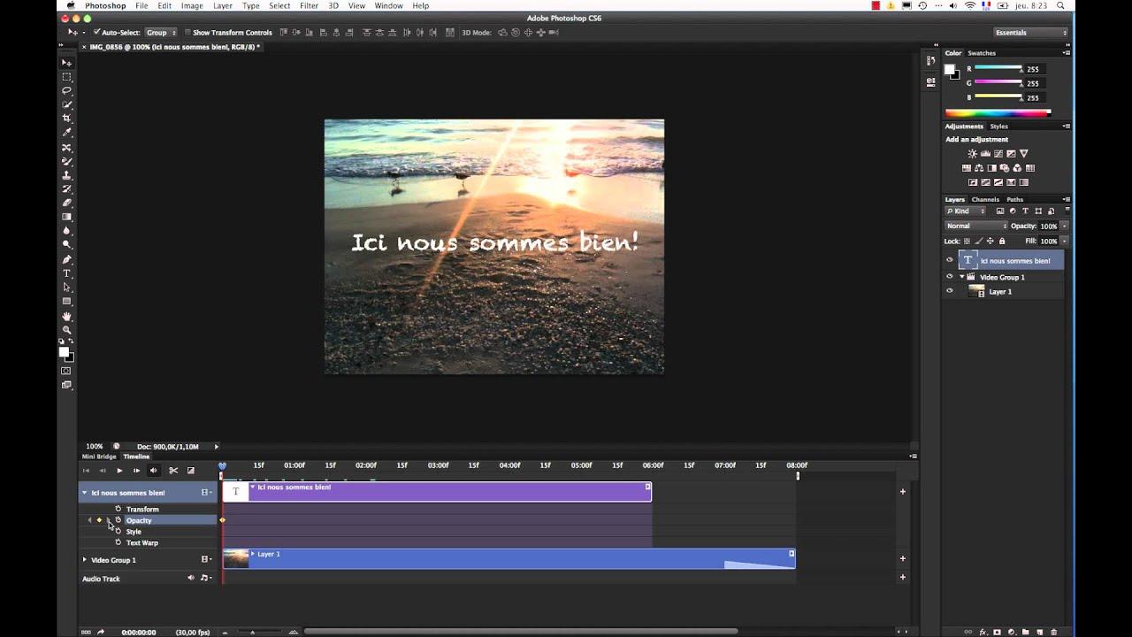 créer un trucage vidéo avec photoshop