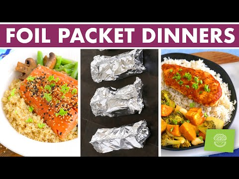 5 Healthy Foil Pack Meal Prep Dinners | How to Make Foil Packets in the Oven!
