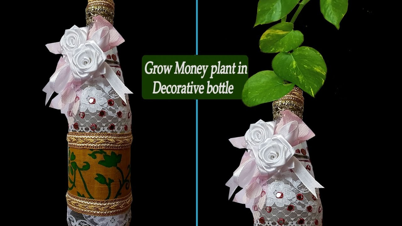 Art and craft ideas diy room decor beautiful bottle for Art and craft file decoration