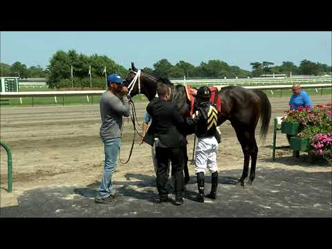 video thumbnail for MONMOUTH PARK 7-27-19 RACE 5 – FRISK ME KNOW STAKES