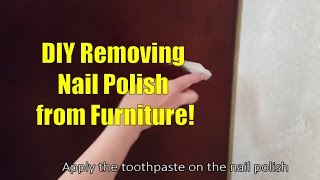 Removing Nail Polish from Furniture DIY (One Weird Trick)