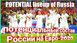RUSSIA POTENTIAL LINEUP EURO 2020 Сборная России на ЕВРО