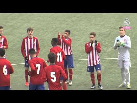 Primera parte Real Madrid-Atlético de Madrid. Infantil A. 06-02-2016