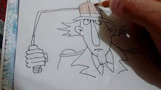 Como dibujar al inspector gadget/how to draw inspector gadget
