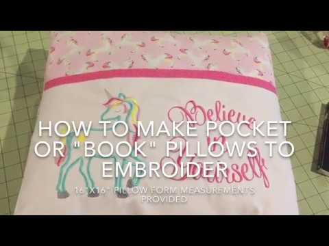 How To Sew A Pocket Book Pillow With Lined Pocket 16x16 Form