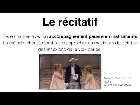 L'opéra - différence récitatif / air