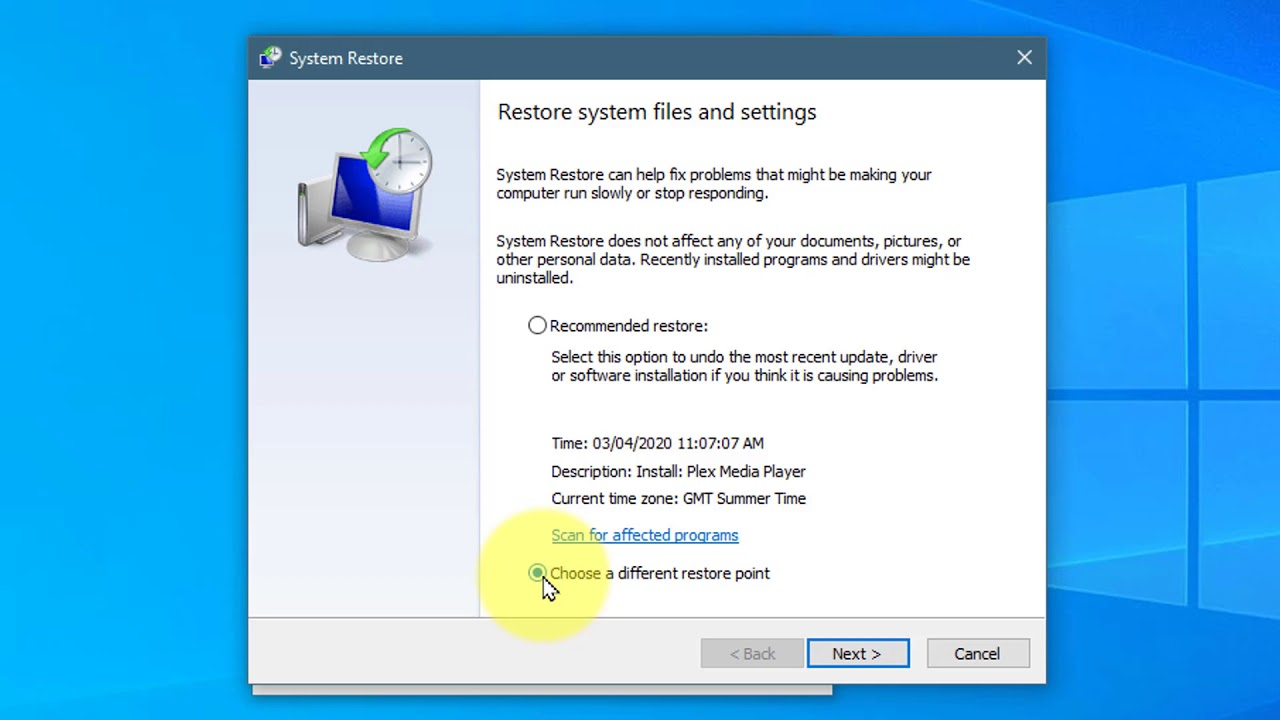 Where to find System Restore in Windows 10 and how to use it - YouTube