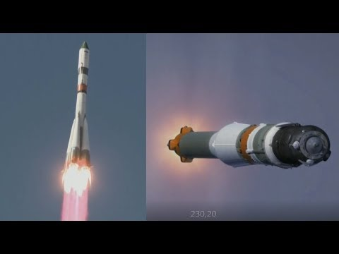 Soyuz-2.1a Rocket Launches Progress MS-07 Spacecraft to the ISS (Progress 68P Mission)