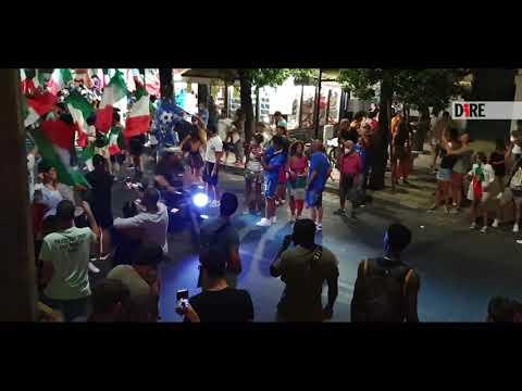 Italia campione d'Europa, caroselli a Lecce