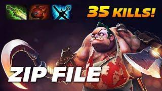 ZIP FILE PUDGE | 35 KILLS OWNAGE | Dota 2 Pro Gameplay