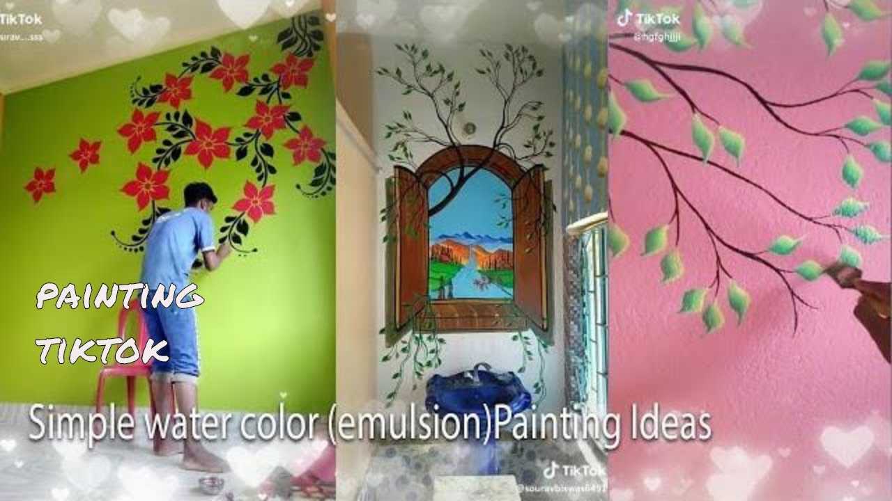 Tiktok Tree Wall Painting Designs Ideas Youtube