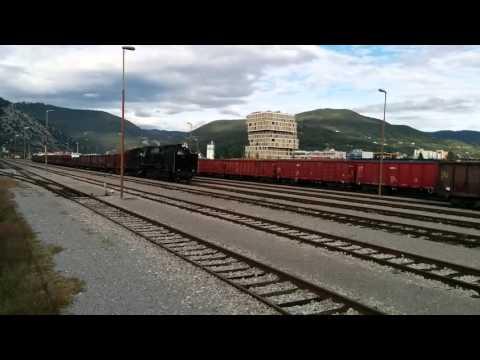 Parna lokomotiva Nova Gorica. Vapor train in Nova Gorica.