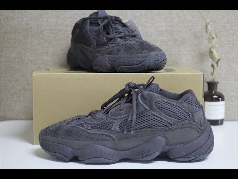 2e9e9839f Yeezy 500 Shadow Black Review - YouTube