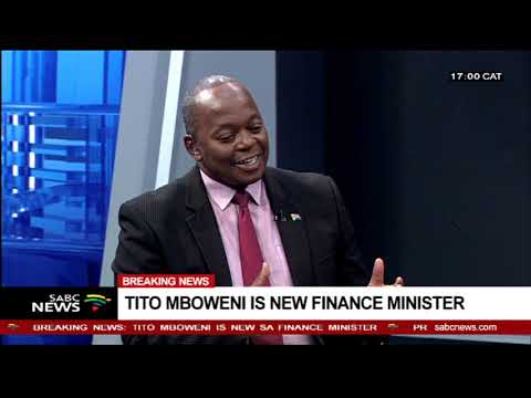 Reaction to Mboweni's appointment as Finance Minister