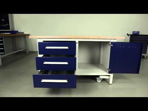 hk kasten werkbank absenkbare fahreinrichtung f r mobiles arbeiten. Black Bedroom Furniture Sets. Home Design Ideas