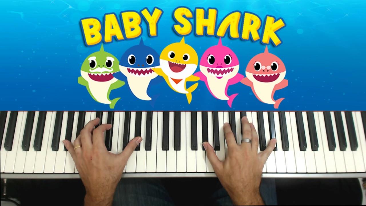 Download 🎵COMO TOCAR BABY SHARK🎵PIANO E TECLADO TUTORIAL | GIL BORGES | PianoClub |