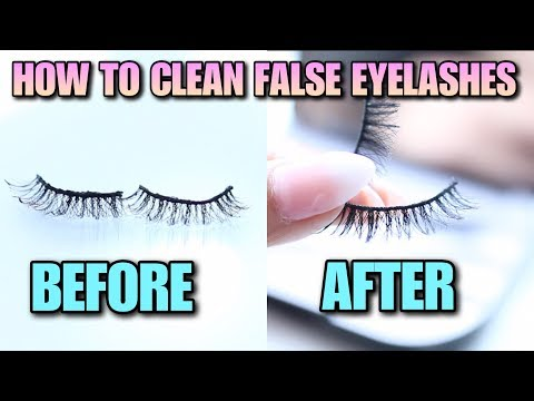 HOW TO CLEAN FALSE EYELASHES GENTLY! HOW TO CLEAN FAUX MINK LASHES EASY FOR REUSE