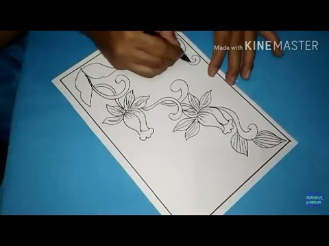 Cara Menggambar Sketsa Motif Batik Sketsa 30