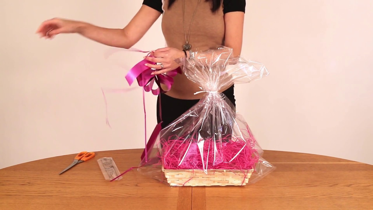 How To Wrap A Gift Basket | Your Gift Basket & How To Wrap A Gift Basket | Your Gift Basket - YouTube