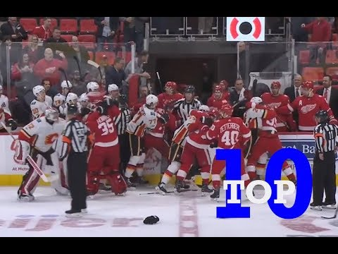 Top Ten NHL Hockey Fights of November 2017