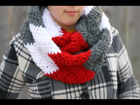 How To Crochet A Chunky Wavy Cowl Neck Infinity Scarf Youtube