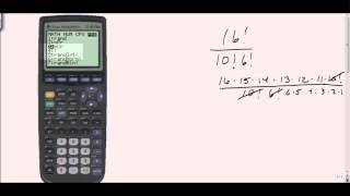 Using your calculator to find factorials