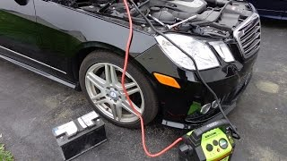 diy w212 mercedes e350 battery replacement