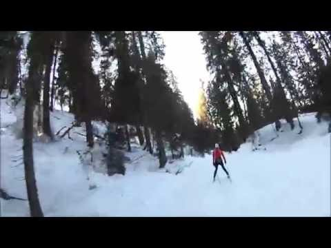 Nordic skate skiing Holmenkollen to Kikut in Oslo