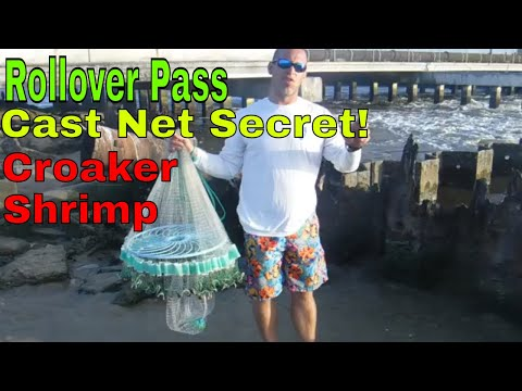 Rollover Pass - Cast Net Secret - On How To Get Croaker And Shrimp! 2019