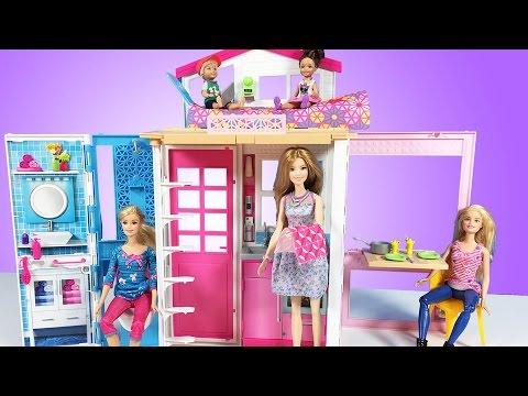 Barbie 'nin YENİ Portatif Evi | Evcilik TV Barbie Türkçe izle