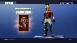 Purchasing The New Crackshot Outfit - Fortnite Battle Royale