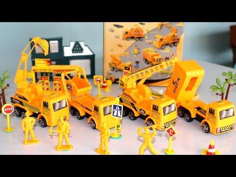 รีวิวของเล่น-ประกอบ รถแม็คโคร รถขยะ รถยก รถรีไซค์เคล - Super Truck