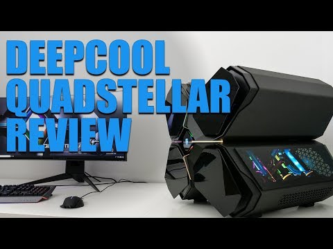 Deepcool Quadstellar Chassis Review. A case with a brain!