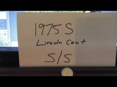 1975 SS Lincoln Cent Error