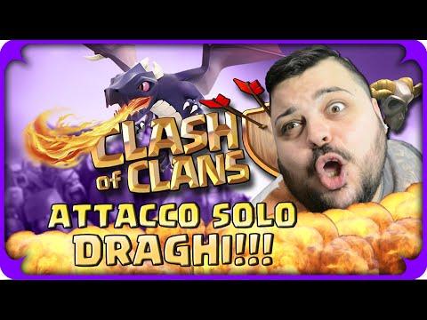 ATTACCO UN VILLAGGIO PIU' FORTE SOLO CON I DRAGHI ! [Clash of Clans]