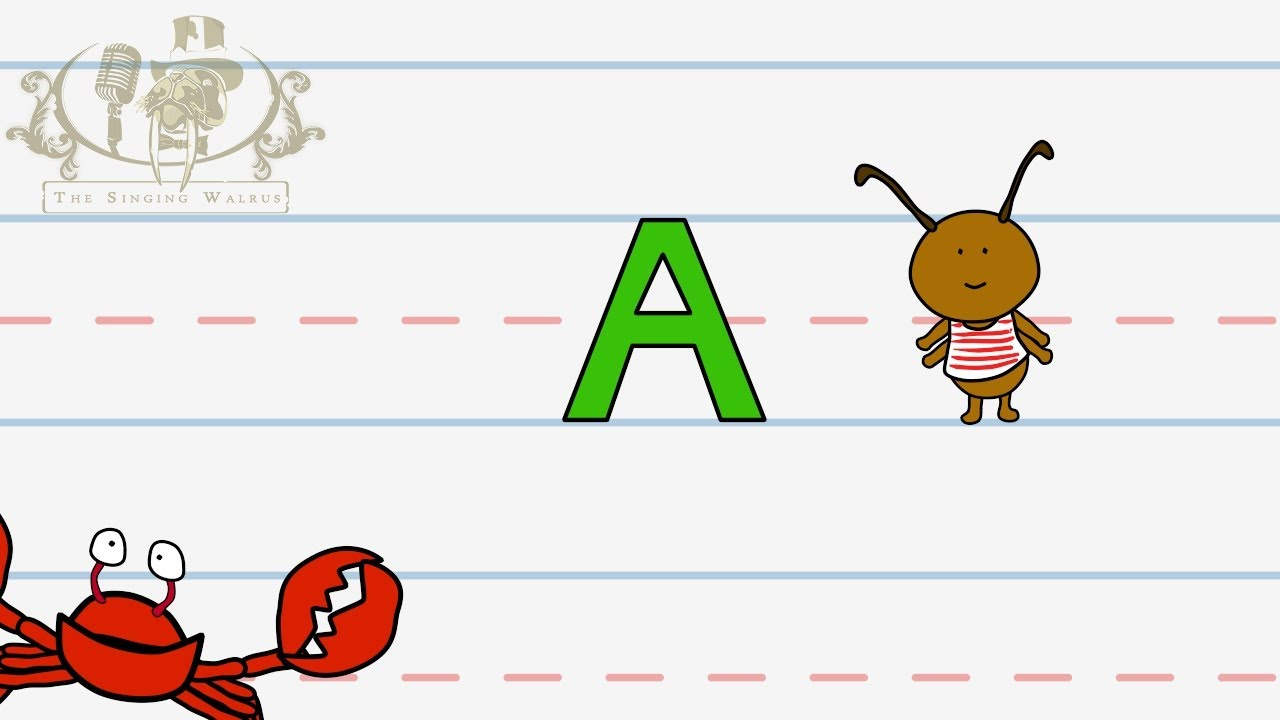 Write The Letter A Alphabet Writing Lesson For Children The