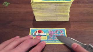 HOLY COW SCRATCHING 250 TICKETS!!! I Heart California Entire Roll $1 California Lottery Sc | Miriam Murray